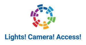 Logo, Lights! Camera! Access!